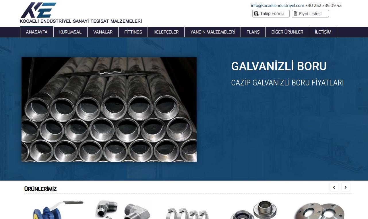Kocaeli Endüstriyel Sanayi Tesisat Malzemeleri